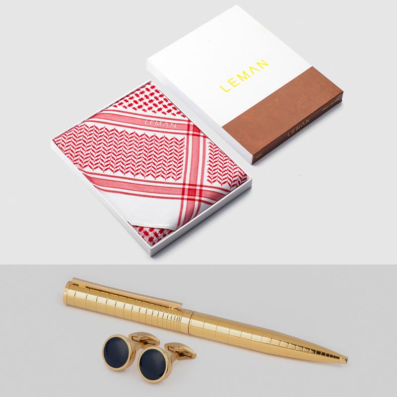 شماغ أحمر ـ ليمان مع قلم و كبك نيتو ماراني