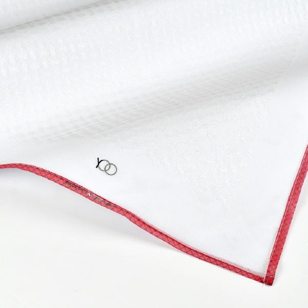 شماغ يوو رمكس أبيض لون أحمر شبكي