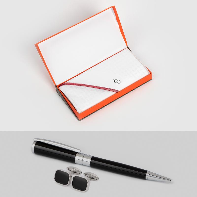 شماغ يوو رمكس أبيض مع قلم وكبك نيتو ماراني