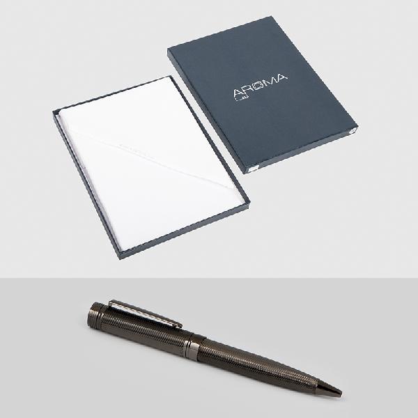 غترة أروما بيضاء فريدة قلم نيتو مارانى نحاس محفور