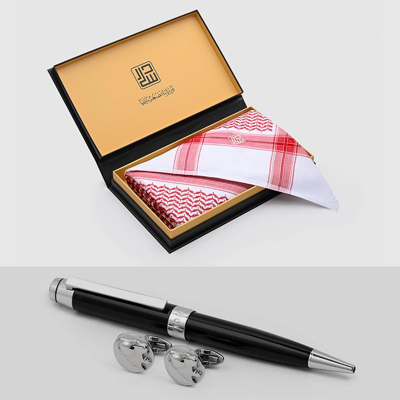 شماغ دسار كلاسيك مع طقم قلم وكبك