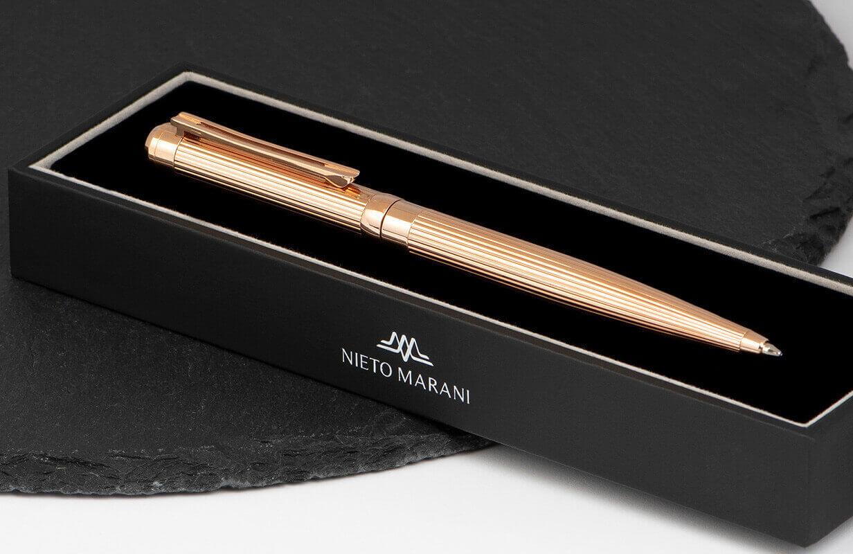 قلم ذهبي روز بخطوط بارزة  - نيتو ماراني