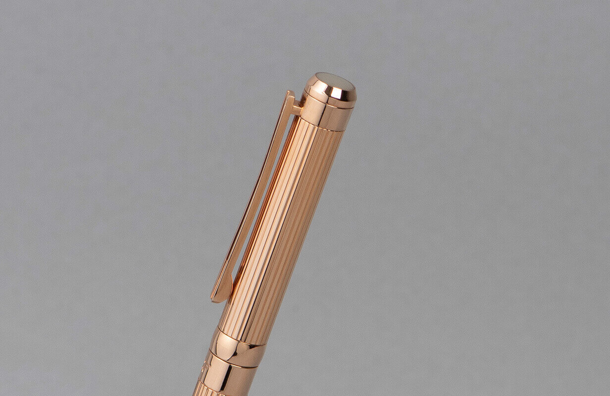 قلم  نيتو ماراني ذهبي روز بخطوط بارزة