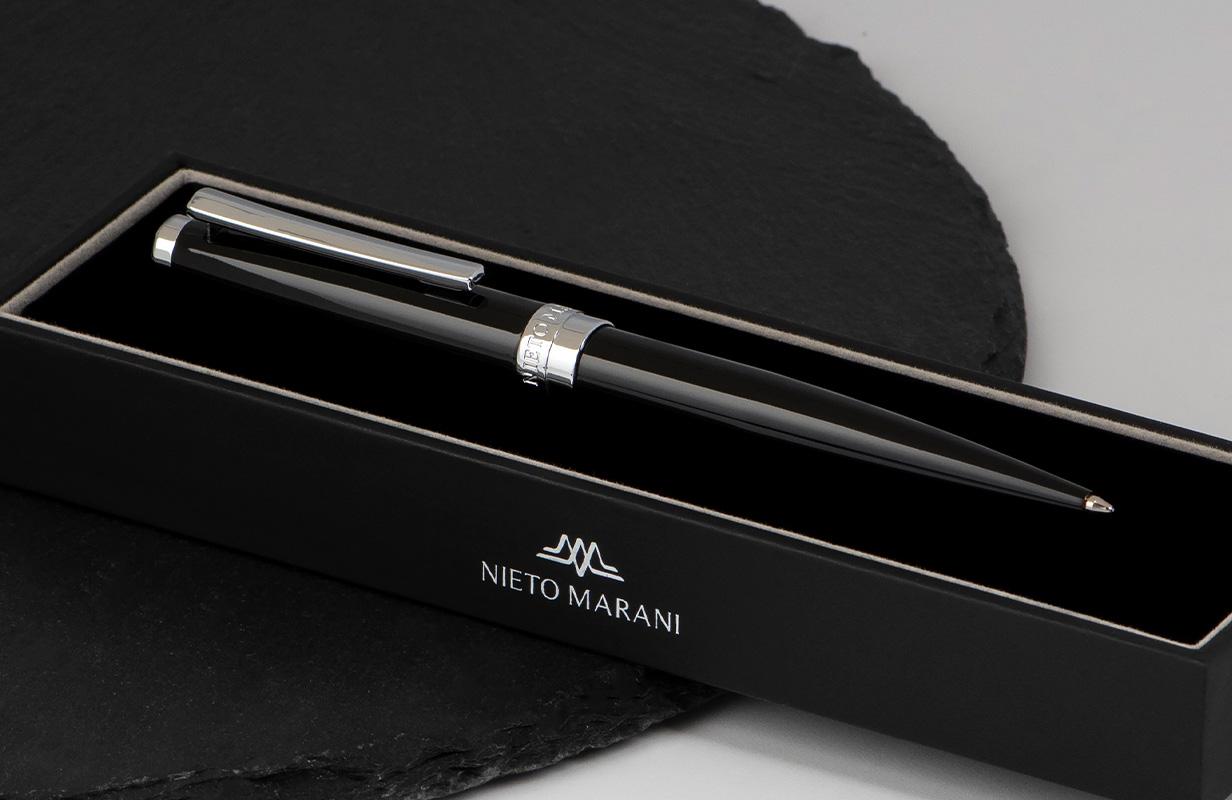قلم أسود فضي سادة - نيتو ماراني