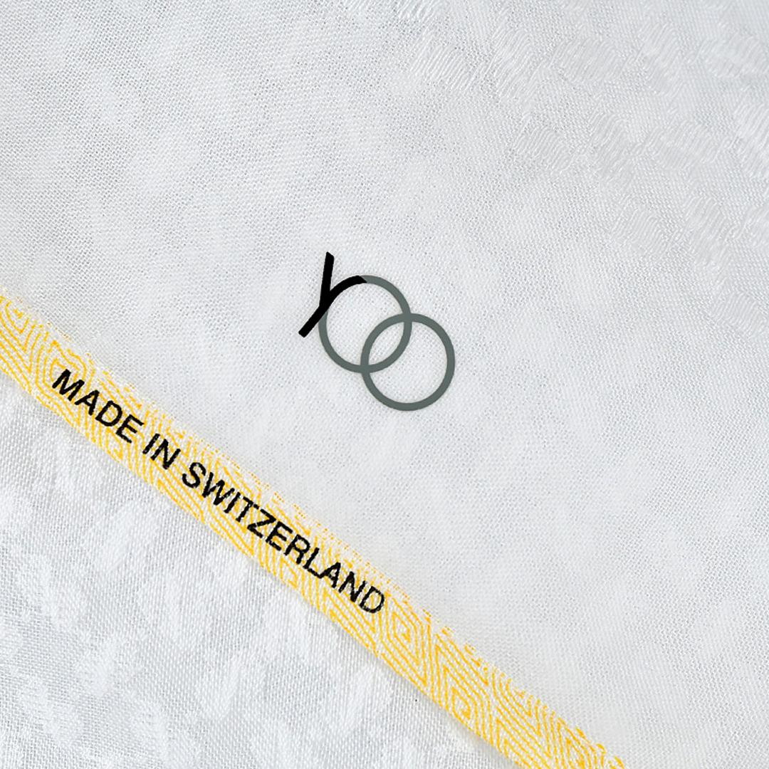 بوكس شماغ يوو لكسون أبيض بأطراف لون أصفر