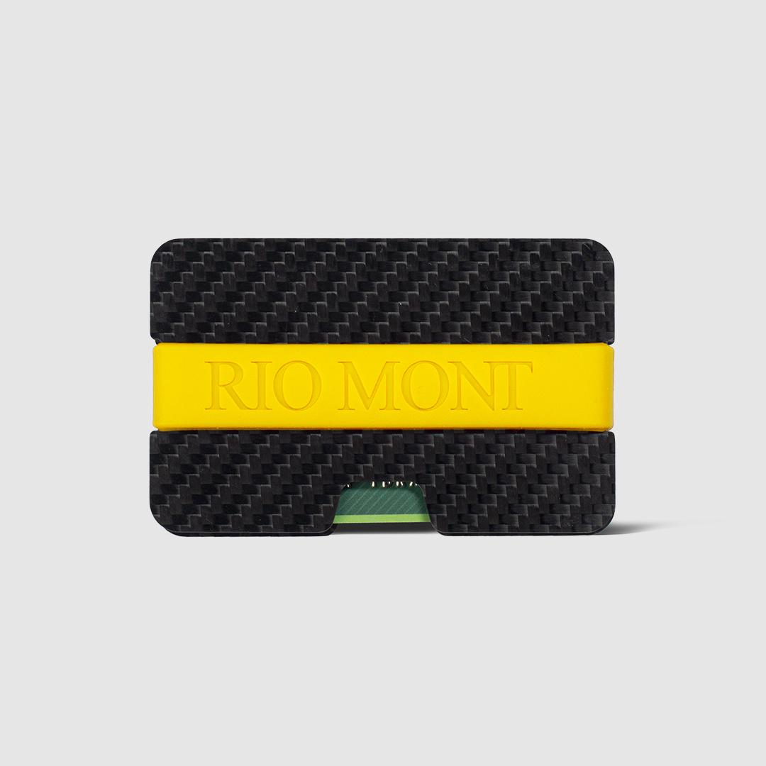 محفظة ريو مون كاربون فايبر بحزام للبطائق والهويات ضد السرقة