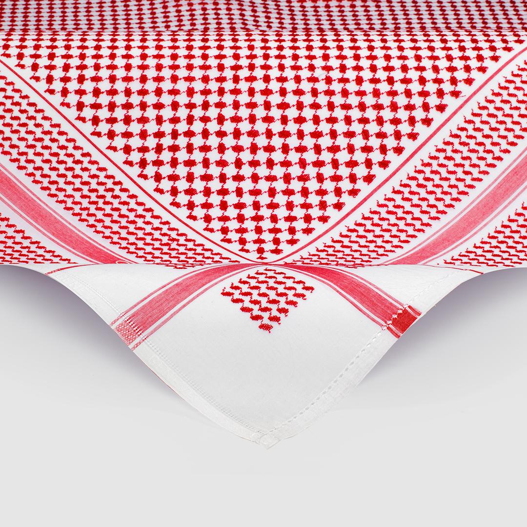 شماغ جنيفا أحمر برميم مع غترة أروما بيضاء مميزة