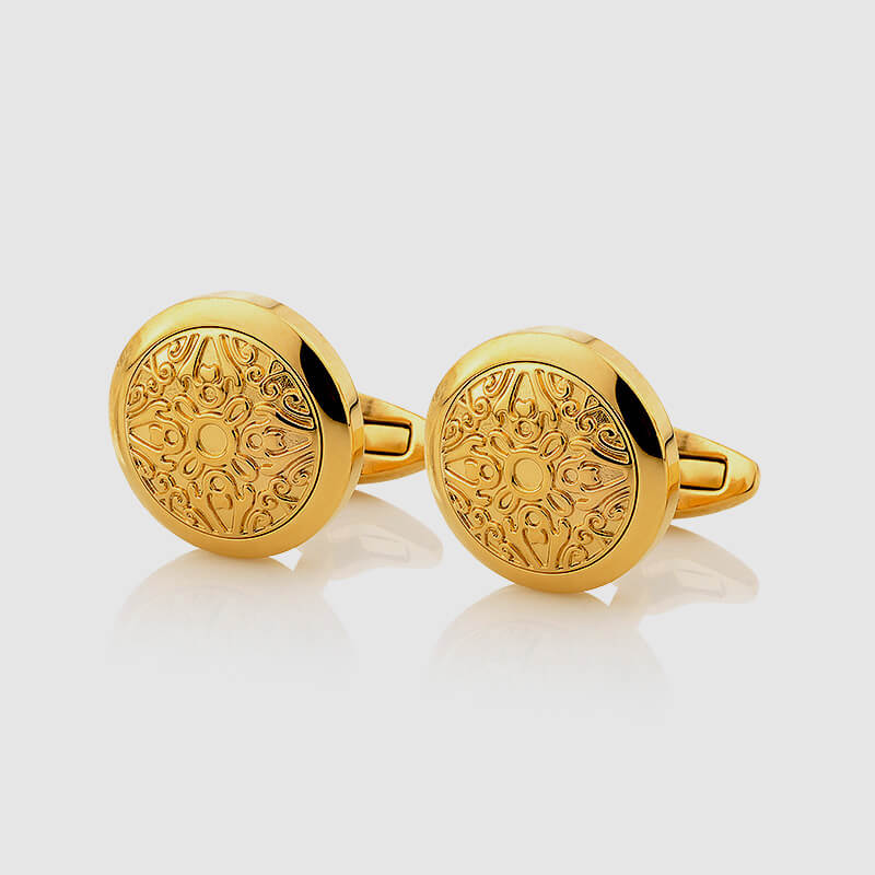 Gold Cufflinks decorated with Gold - NIETO MARANI