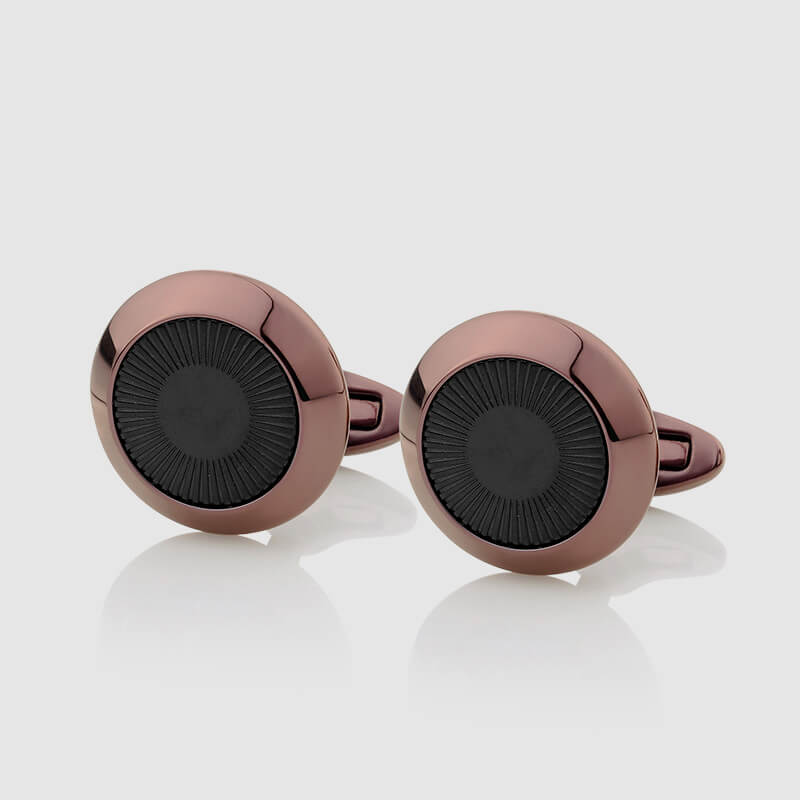 Bronze Cufflinks with Black decoration - NIETO MARANI