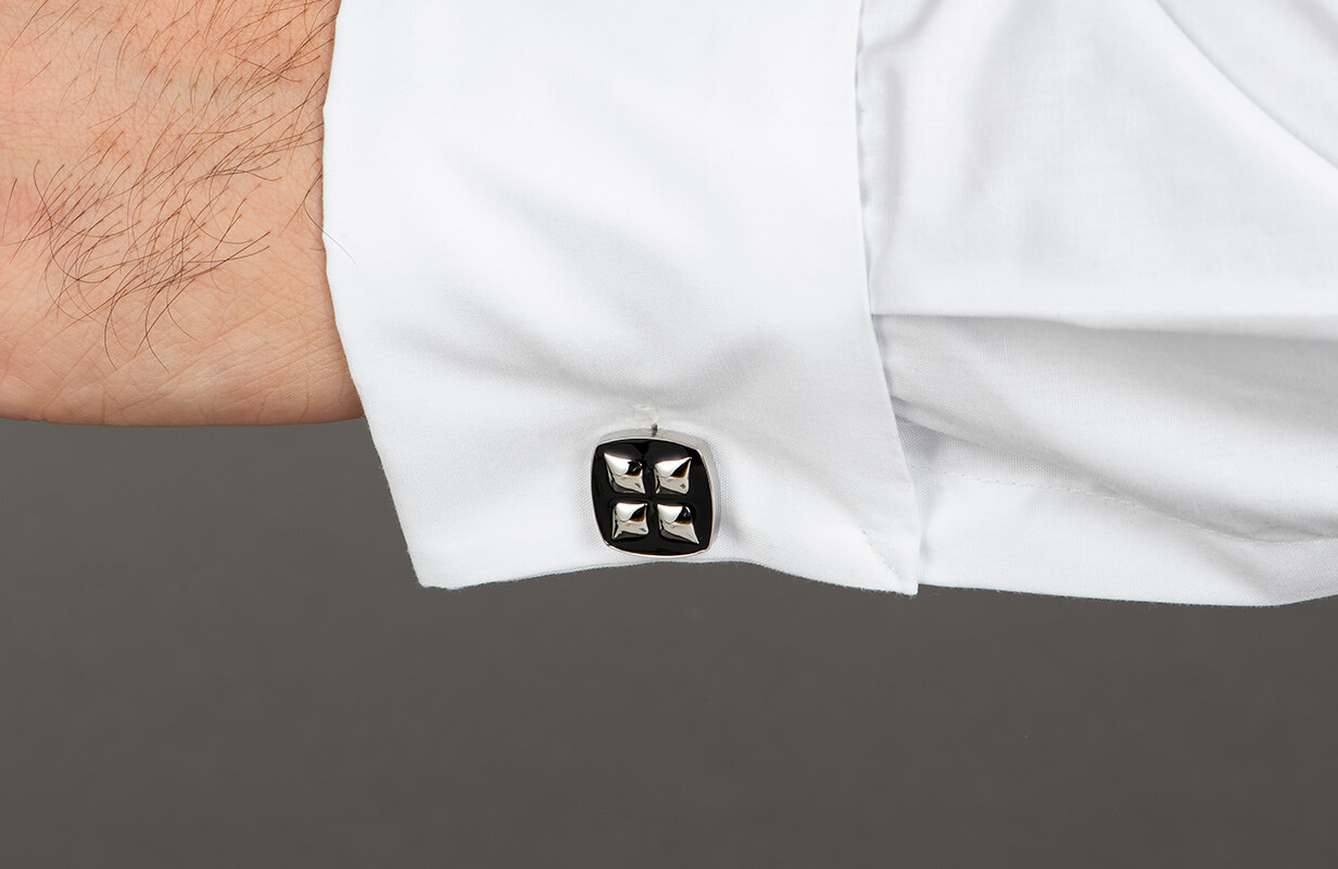 Black Cufflinks decorated with Silver - NIETO MARANI