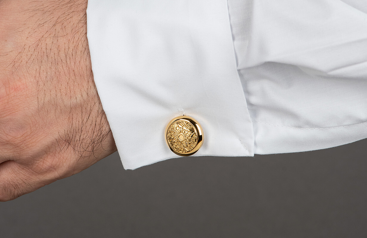 Gold Cufflinks decorated with Gold - NIETO MARANI