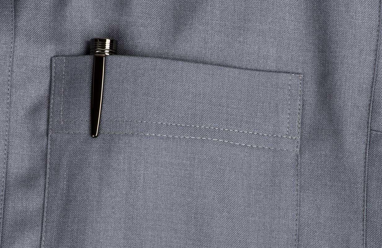 قلم اسود منقوش رصاصي- نيتو ماراني