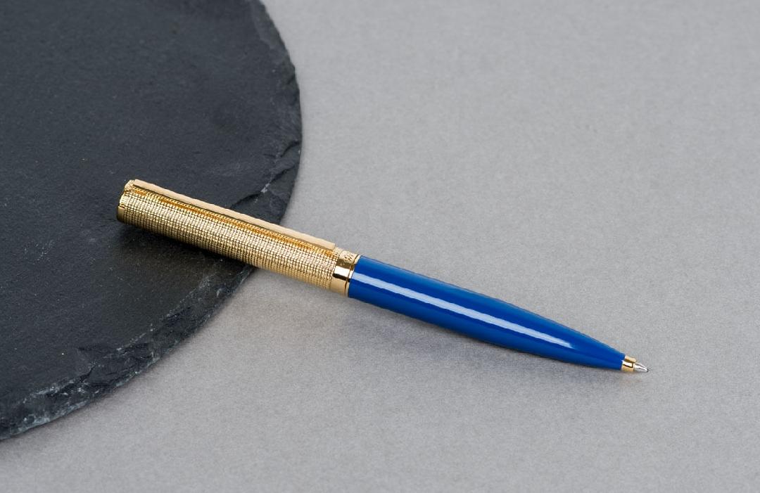 قلم  نيتو ماراني أزرق براس ذهبي منقوش