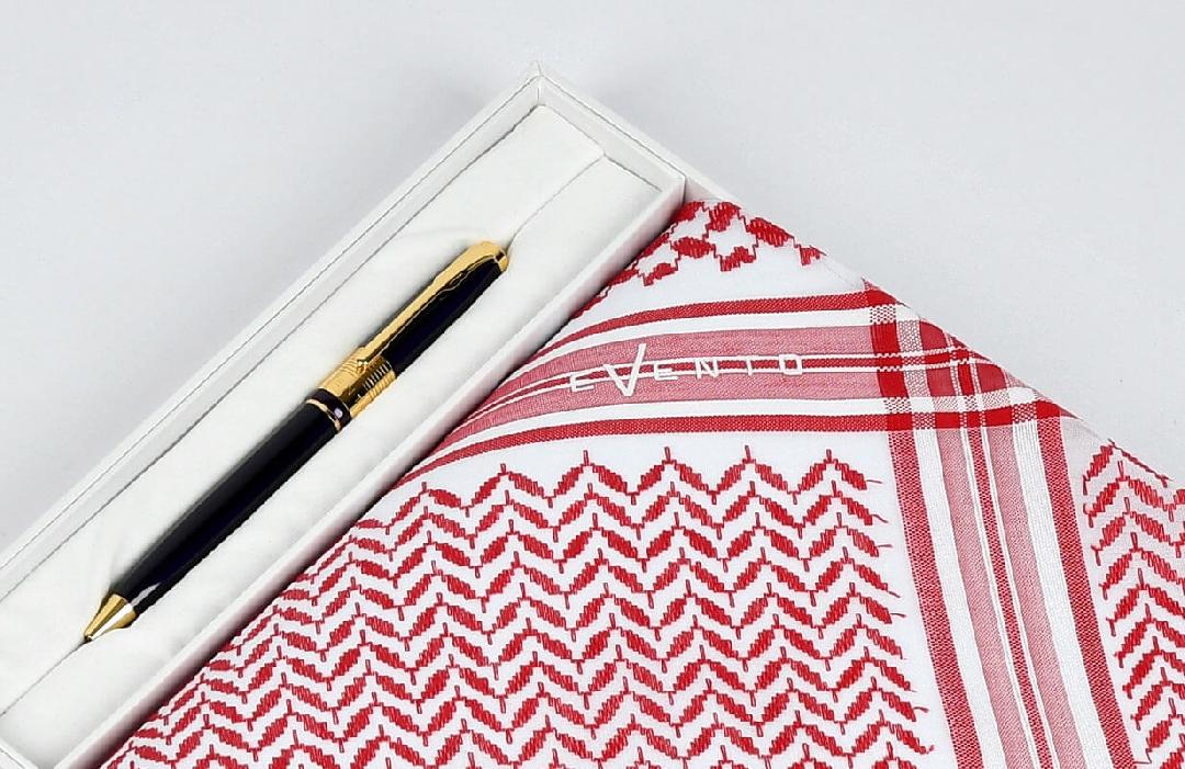 شماغ ايفنتو برو أحمر مع قلم