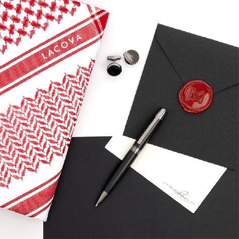LACOVA Shemagh & cufflink Pen Set