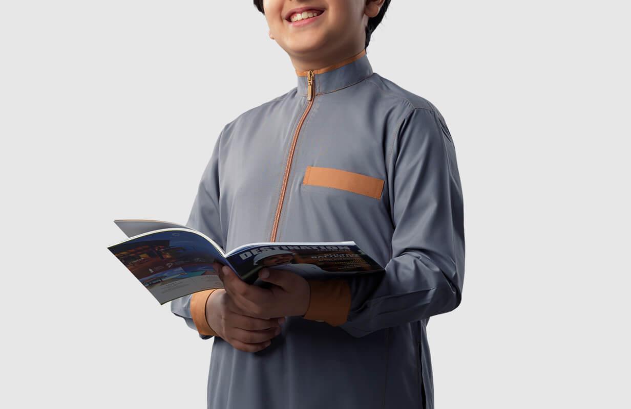 Orange Boys Thobe Costume