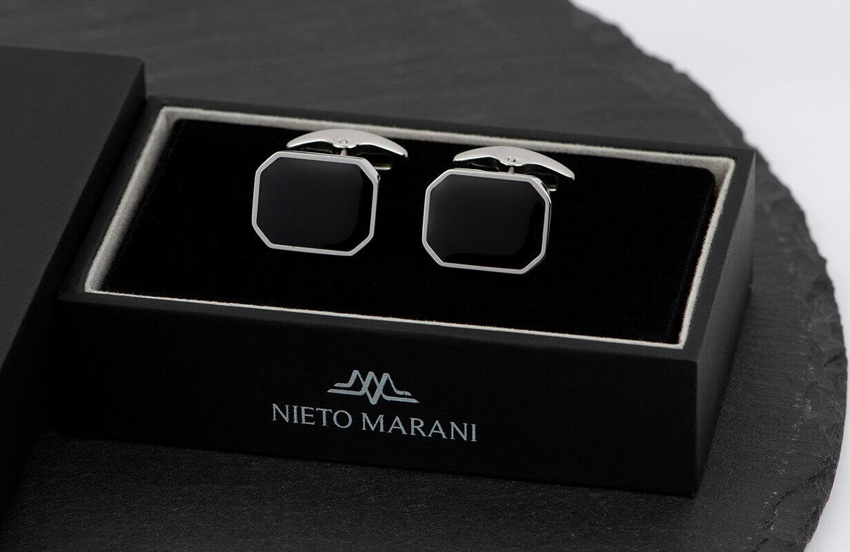 كبك فضي أسود مستطيل مميز ـ نيتو ماراني