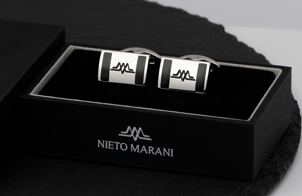 كبك فضي أسود محفور ـ نيتو ماراني