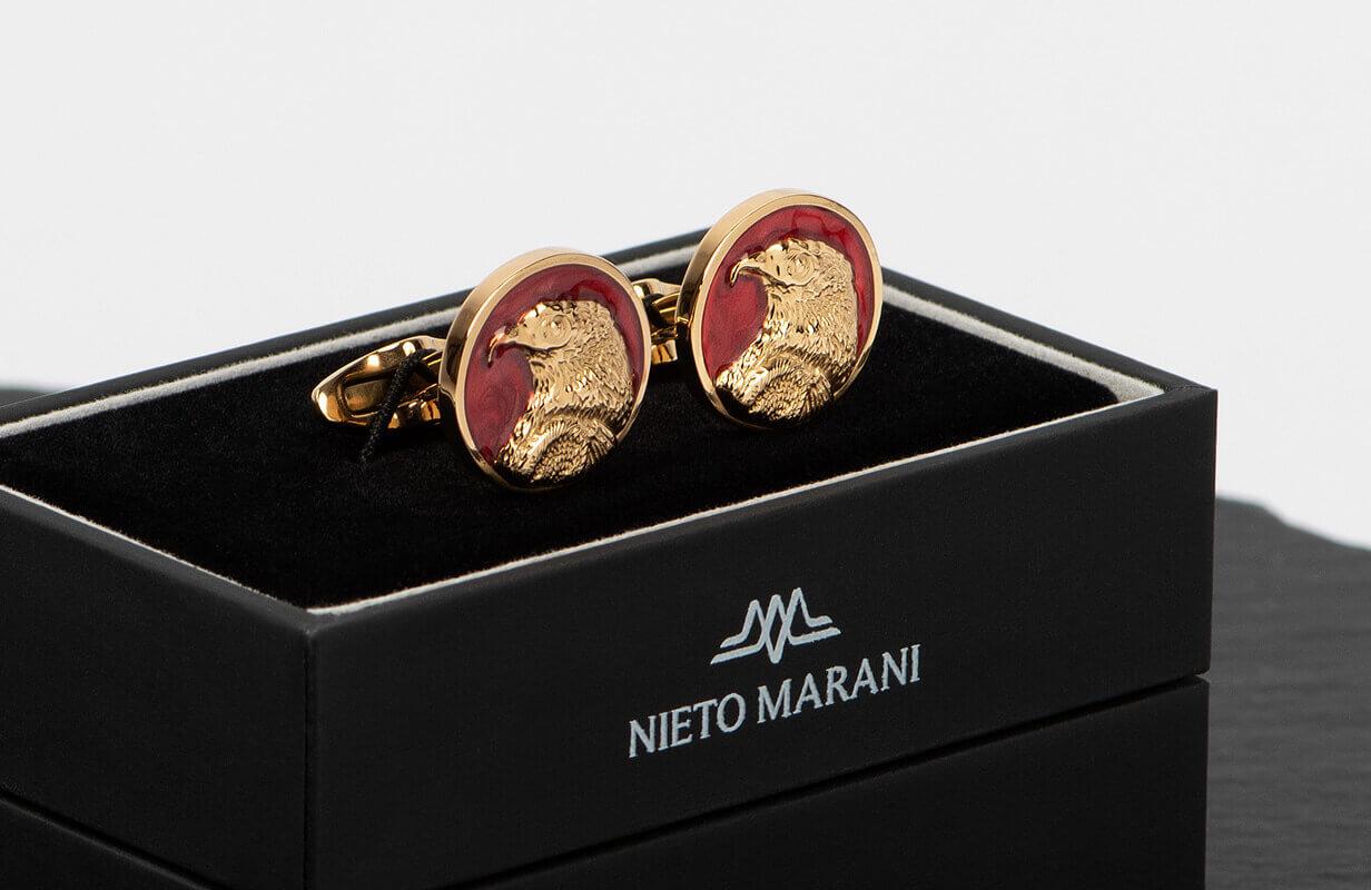 كبك ذهبي أحمر مرسوم برأس نسر - نيتو ماراني