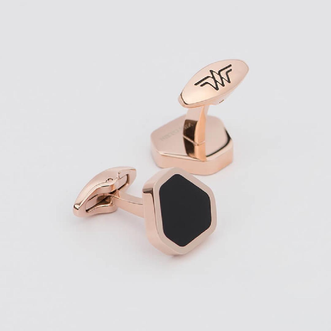 كبك خماسي الشكل ذهبي - أسود من نيتومراني