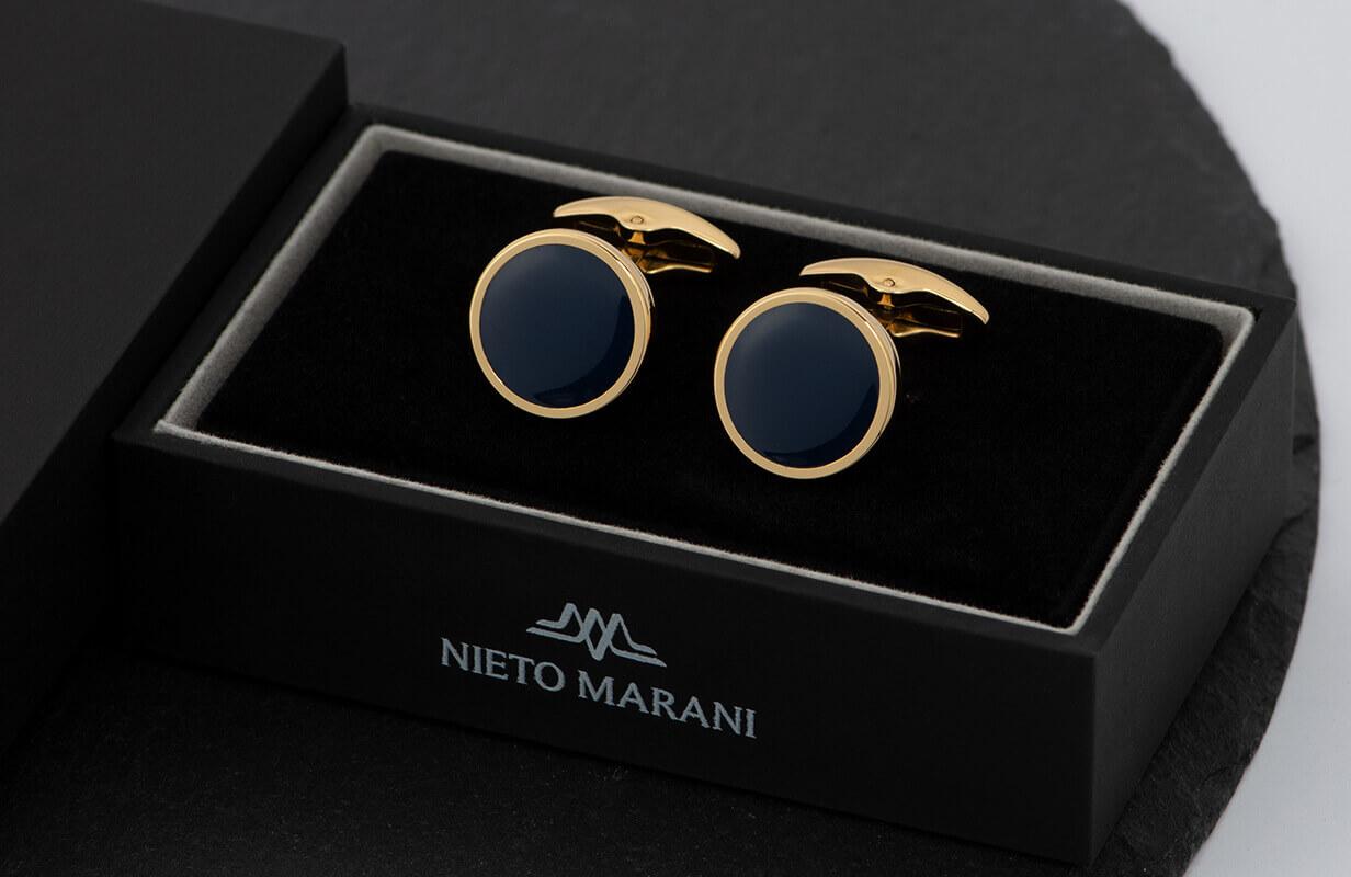 كبك  نيتو ماراني ذهبي أزرق داكن سادة