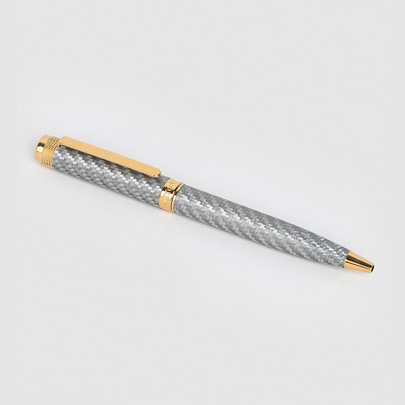 قلم نيتو ماراني كربون فايبر رمادي ذهبي