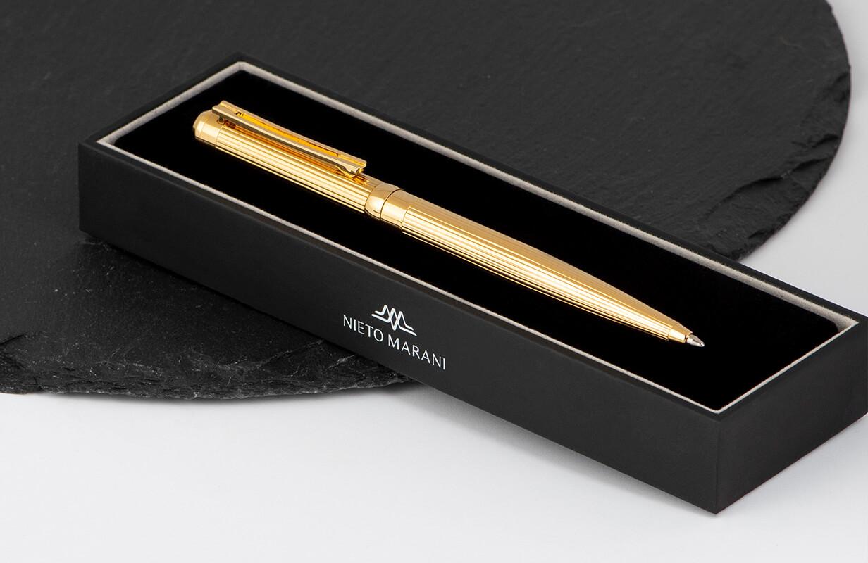 قلم نيتو ماراني ذهبي بخطوط بارزة