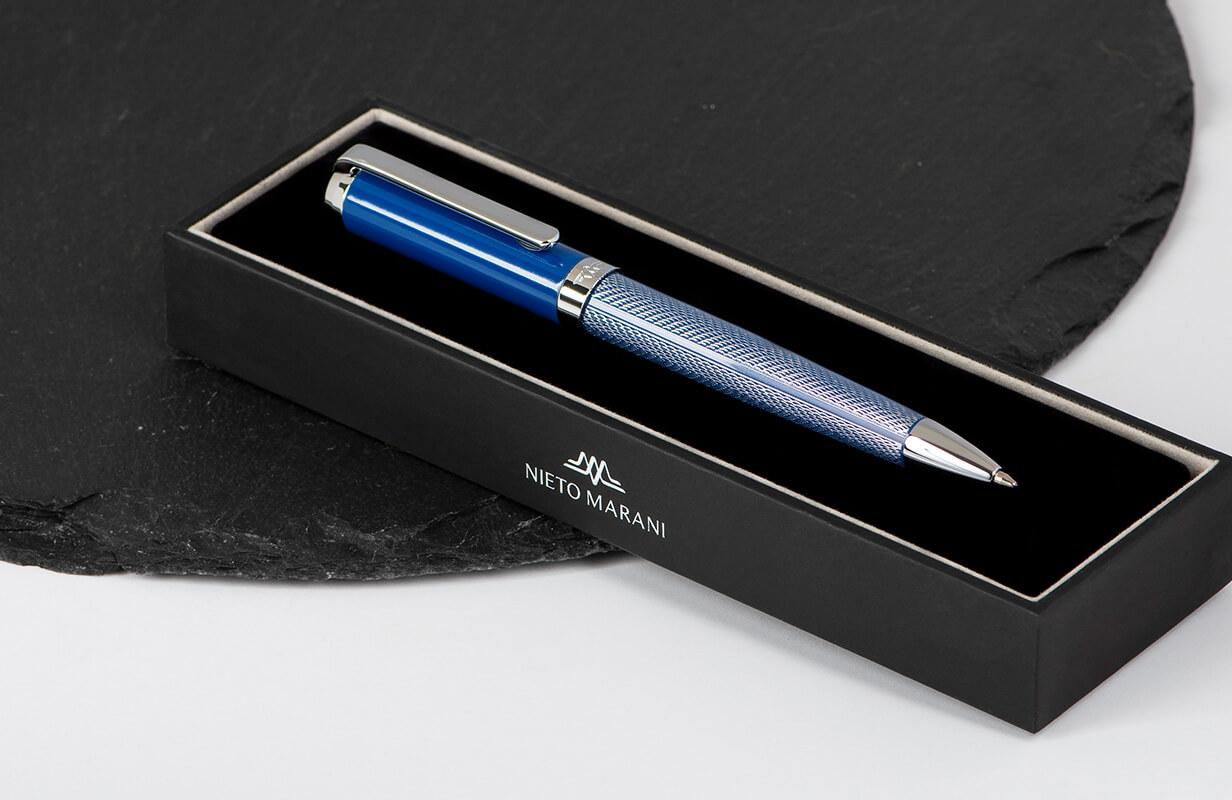 قلم ازرق منقوش بالفضي - نيتو ماراني