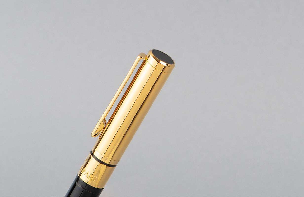 قلم أسود ذهبي بملمس ناعم ـ نيتو ماراني