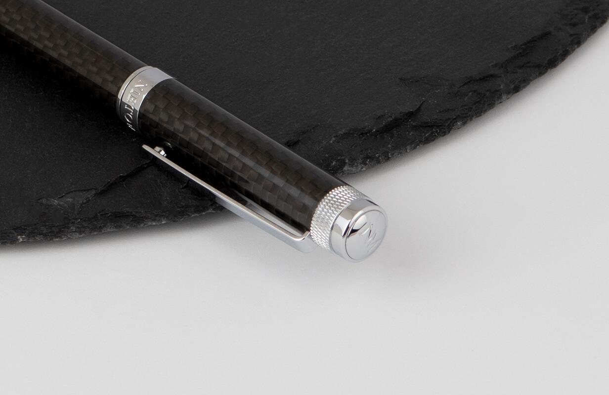 قلم أسود فضي سادة  ـ نيتو ماراني