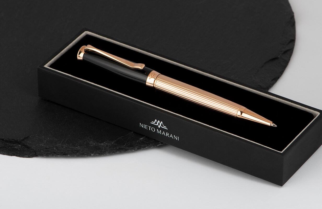 قلم نيتو ماراني أسود روز ذهبي سادة