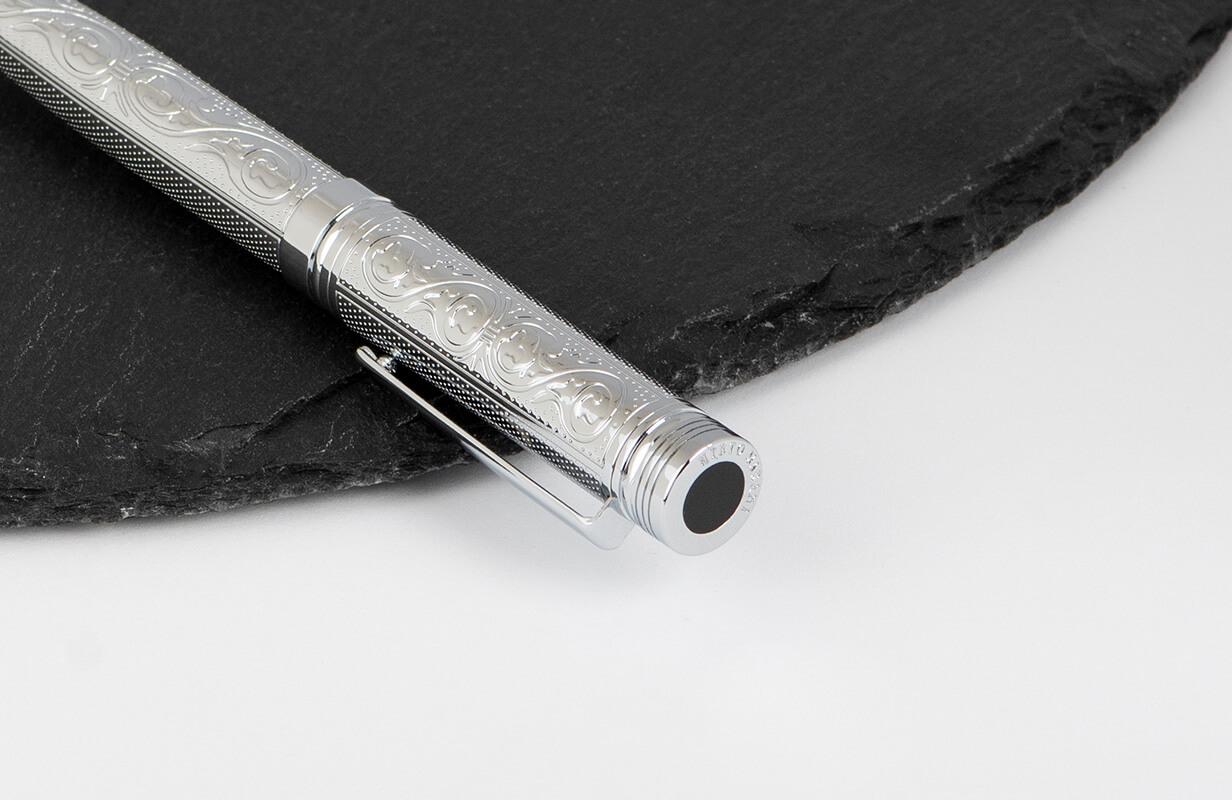 قلم نيتو ماراني فضي لامع مزخرف