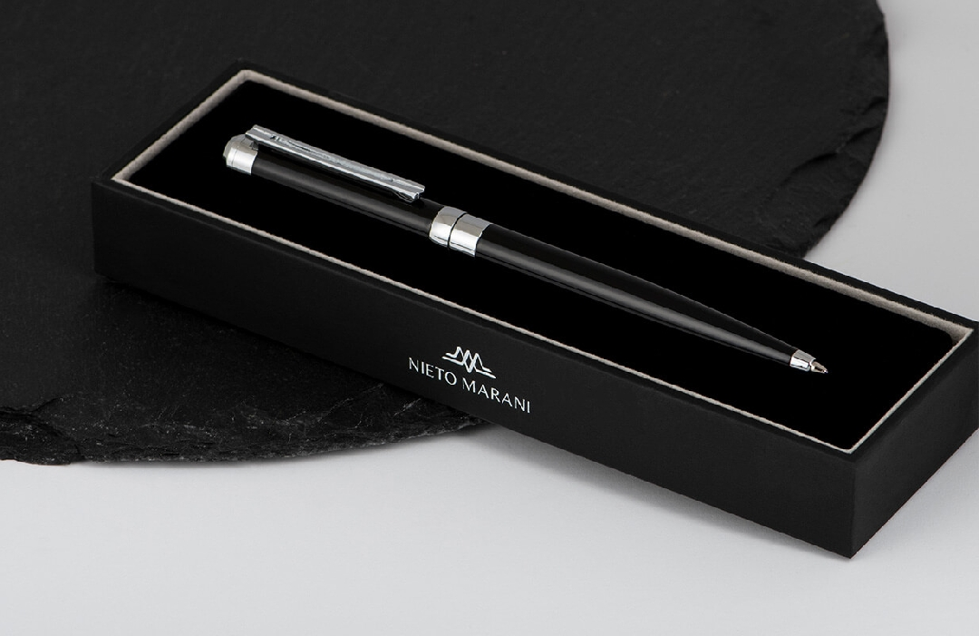 قلم  نيتو ماراني أسود فضي أنيق