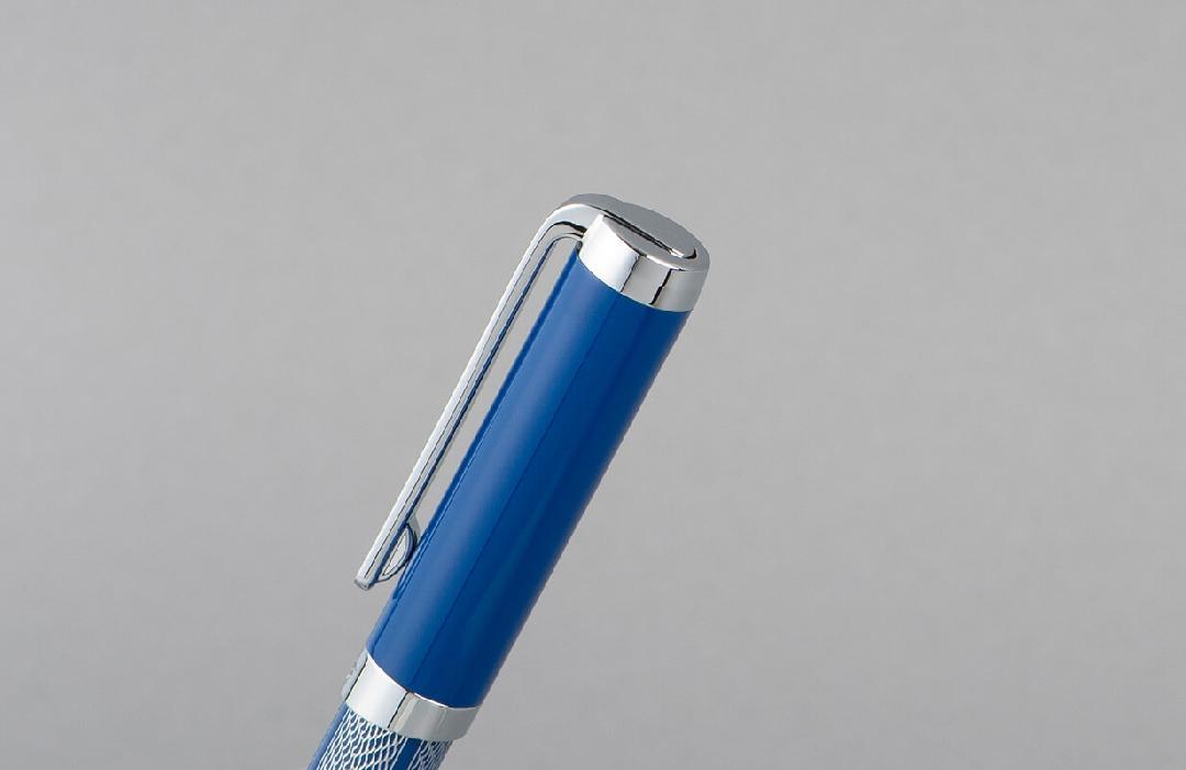 قلم  نيتو ماراني ازرق منقوش بالفضي