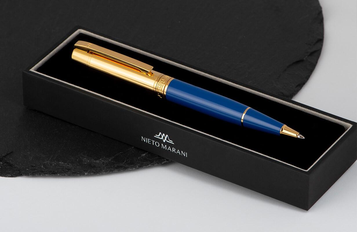 قلم  نيتو ماراني أزرق ذهبي سادة