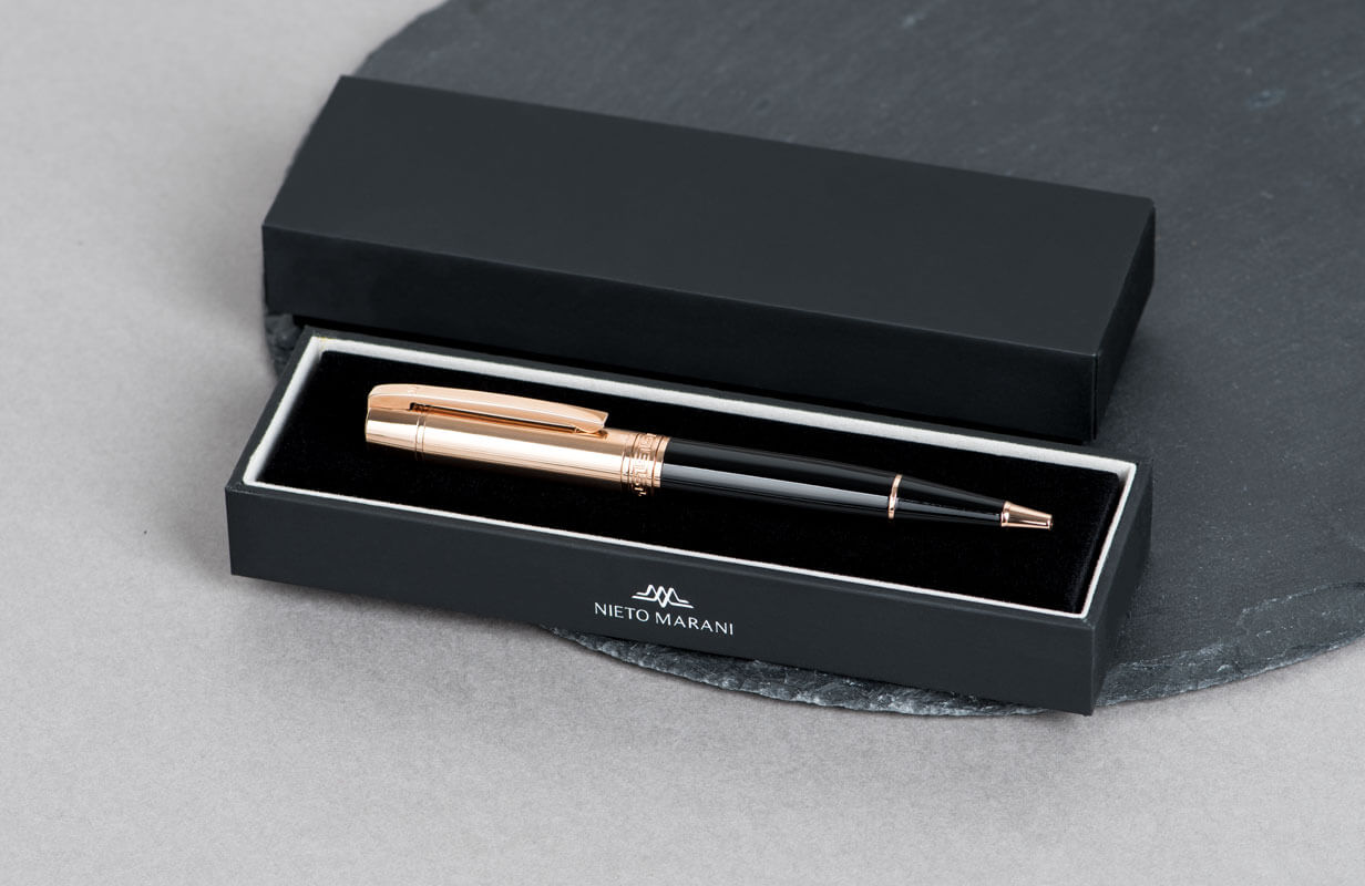 Black Pen with engraved Rose Gold head- NIETO MARANI