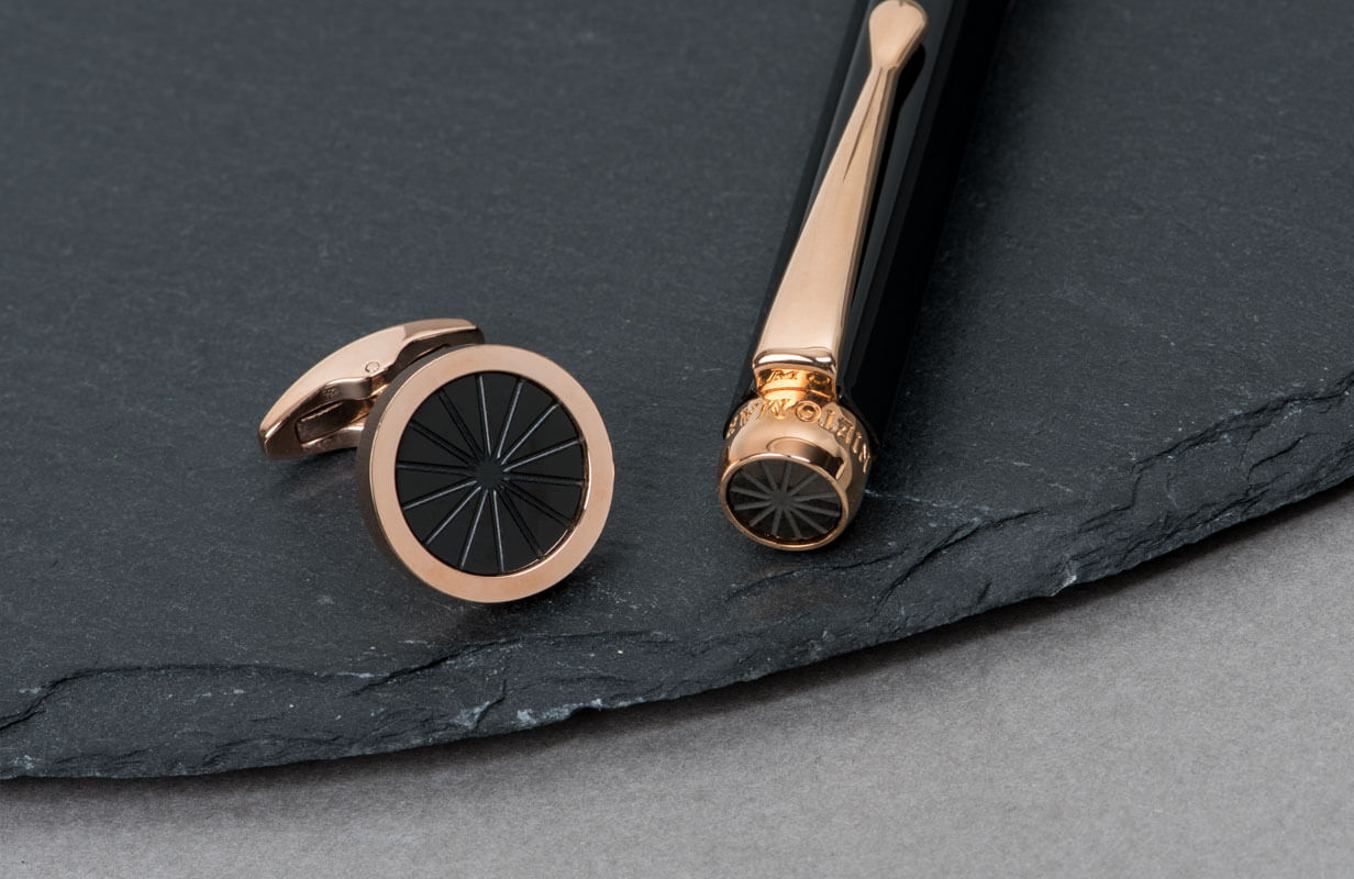 Black & Rose Gold Set with a Special Star - NIETO MARANI